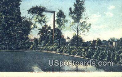 Brook at Meadow Brook Park - Tiffin, Ohio OH Postcard