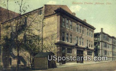 Columbia Theatre - Alliance, Ohio OH Postcard