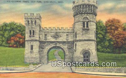 Elsindre Tower, Eden Park - Cincinnati, Ohio OH Postcard