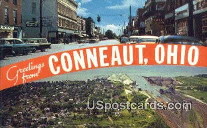 Conneaut, OH Postcard      ;      Conneaut, Ohio