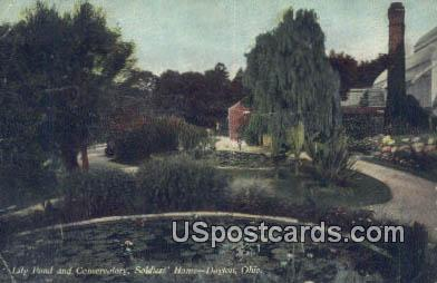 Lily Pond & Conservatory, Soldiers' Home - Dayton, Ohio OH Postcard