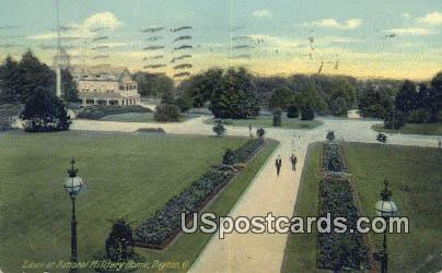 Lawn, National Military Home - Dayton, Ohio OH Postcard