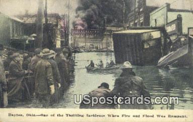 Fire & Flood - Dayton, Ohio OH Postcard