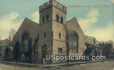 Presbyterian Church - Alliance, Ohio OH Postcard