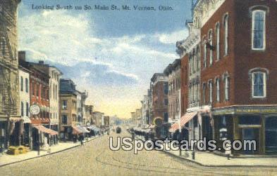 So Main Street - Mt. Vernon, Ohio OH Postcard
