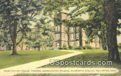 Administration Building, Wilmington College - Ohio OH Postcard