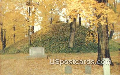 Conus in Mound Cemetery - Marietta, Ohio OH Postcard