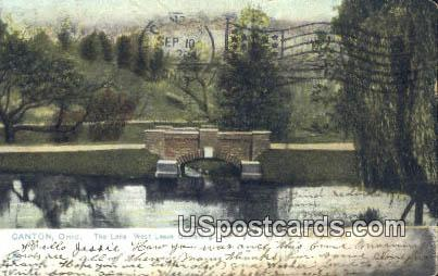 Lake, West Lawn Cemetery - Canton, Ohio OH Postcard