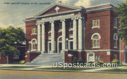 First Baptist Church - Altus, Ohio OH Postcard