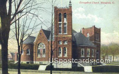Evangelical Church - Mansfield, Ohio OH Postcard