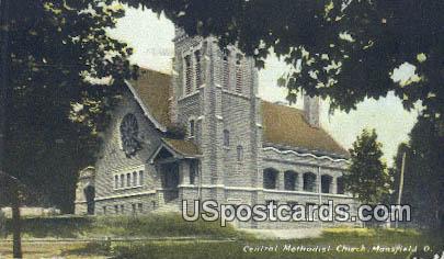 Central Methodist Church - Mansfield, Ohio OH Postcard