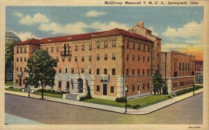 McGilvray Memorial Y.M.C.A. - Springfield, Ohio OH Postcard