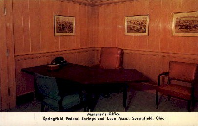 Springfield Federal Savings and Loan Assn. - Ohio OH Postcard