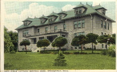 Masonic Home - Springfield, Ohio OH Postcard