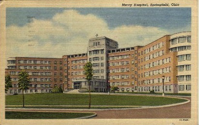 Mercy Hospital - Springfield, Ohio OH Postcard