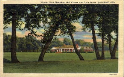 Snyder Park Golf Course - Springfield, Ohio OH Postcard