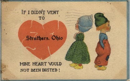 . - Struthers, Ohio OH Postcard