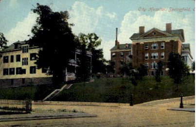 City Hospital - Springfield, Ohio OH Postcard