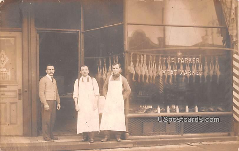 The Parker Meat Market - Toledo, Ohio OH Postcard