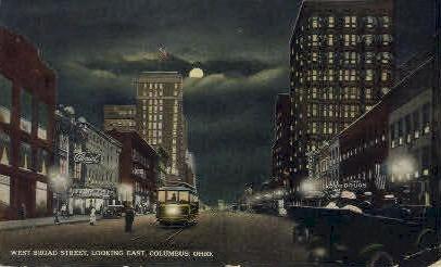Broad St. - Columbus, Ohio OH Postcard
