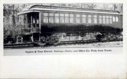 Dayton & Troy Electric Railway - Ohio OH Postcard