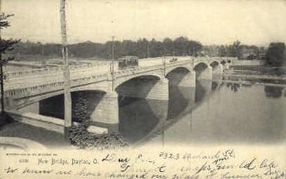New Bridge - Dayton, Ohio OH Postcard