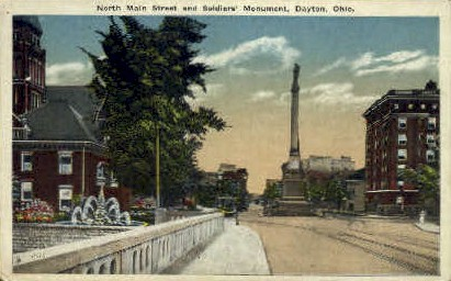 Soldiers' Monument - Dayton, Ohio OH Postcard
