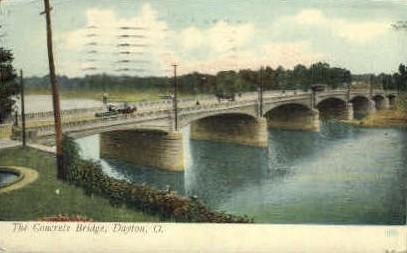 Concrete Bridge - Dayton, Ohio OH Postcard