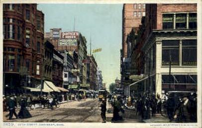 5th Street - Cincinnati, Ohio OH Postcard
