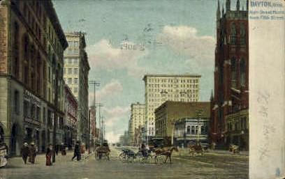 Main Street - Dayton, Ohio OH Postcard