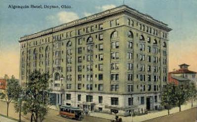 Hotel Algonquin - Dayton, Ohio OH Postcard