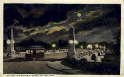 Bridge - Dayton, Ohio OH Postcard