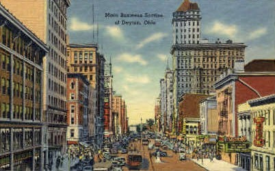 Business Section - Dayton, Ohio OH Postcard