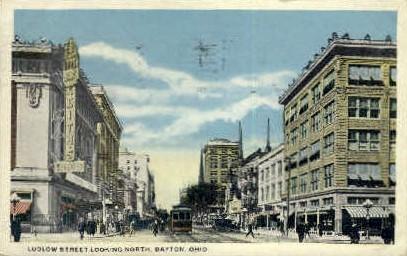 Ludlow St. - Dayton, Ohio OH Postcard