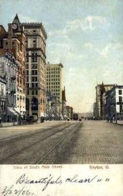 Main St. - Dayton, Ohio OH Postcard