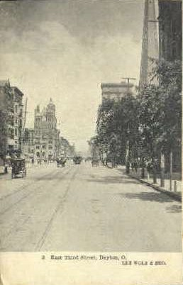 Third Street - Dayton, Ohio OH Postcard