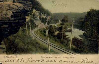 The Narrows - Newark, Ohio OH Postcard