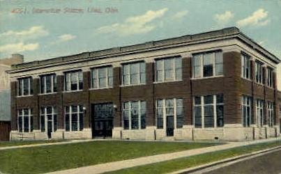 Interurban Union Station - Lima, Ohio OH Postcard