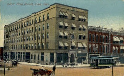Hotel Norval - Lima, Ohio OH Postcard