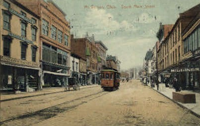 Main St. - Mt. Vernon, Ohio OH Postcard