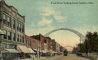 Front St. - Marietta, Ohio OH Postcard