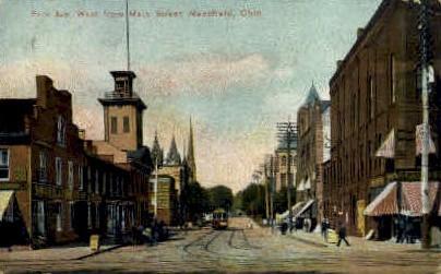 Park Ave. - Mansfield, Ohio OH Postcard