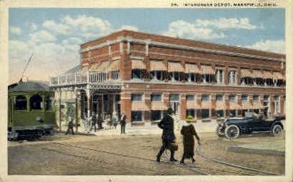 Interurban Union Station - Mansfield, Ohio OH Postcard