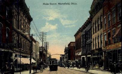 Main St. - Mansfield, Ohio OH Postcard
