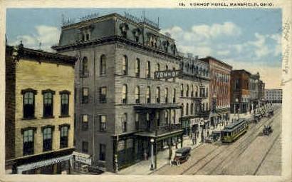 Vonhof Hotel - Mansfield, Ohio OH Postcard