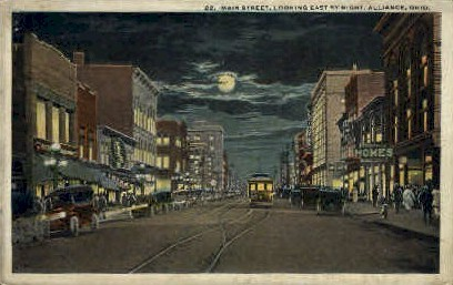 Main St. - Alliance, Ohio OH Postcard