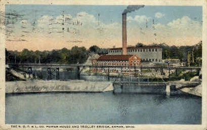 The N.O.T. & L. Co. Power House - Akron, Ohio OH Postcard