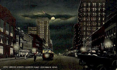 Broad St. - Columbus, Ohio OH Postcard