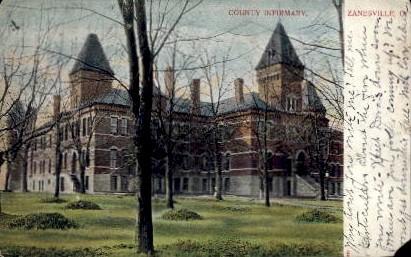 County Infirmary - Zanesville, Ohio OH Postcard