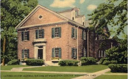 Kathren Denver Momorial Building - Wilmington, Ohio OH Postcard